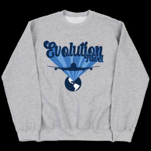 Evolution First Class Heather Grey Crewneck Sweater