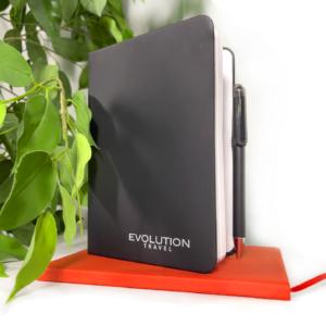 Black Evolution Small Bound Notebook