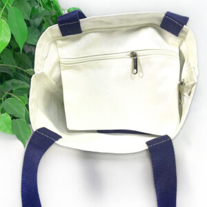Evolution Navy & White Striped Tote Bag
