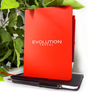 Red Evolution Small Bound Notebook