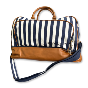 Evolution Navy & White Striped Weekender Bag